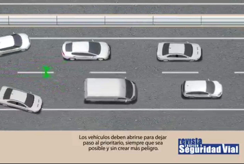 ¿Sabes cómo actuar ante un vehículo prioritario?