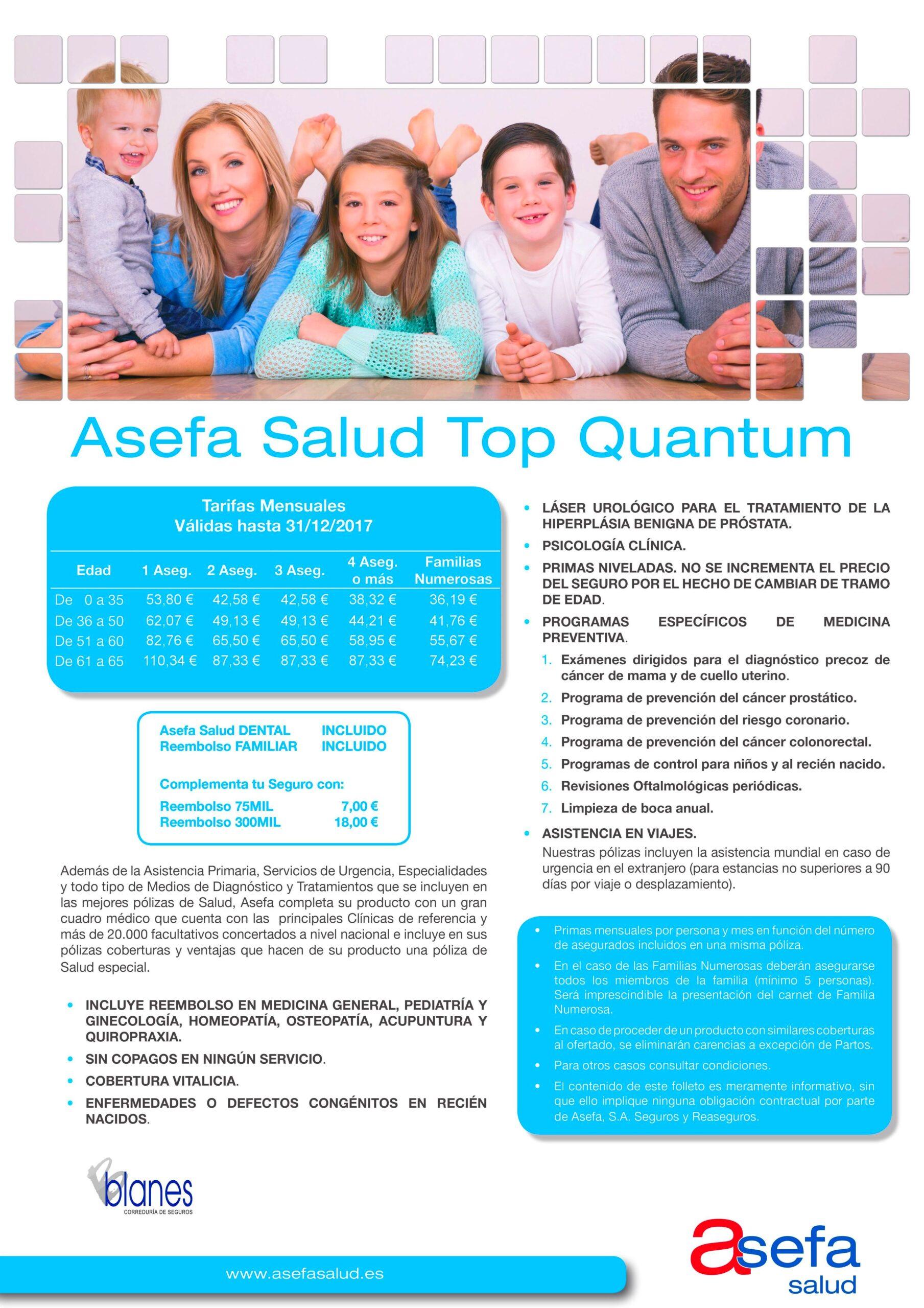 Seguros de Asefa Salud Particulares